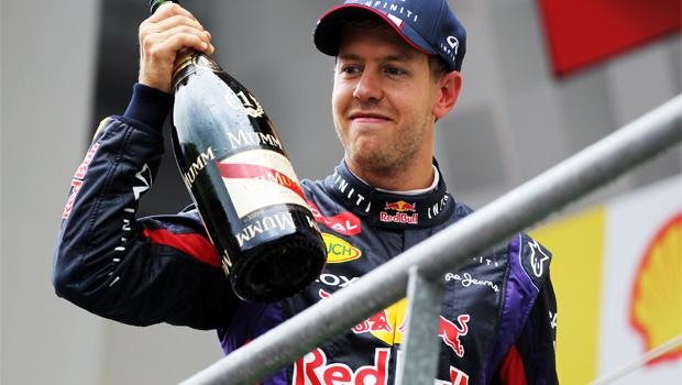 Sebastian Vettel lead on belgian gp