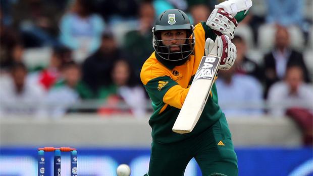 South African batsmen Hashim Amla