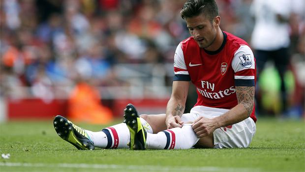 Arsenal Olivier Giroud knee injury