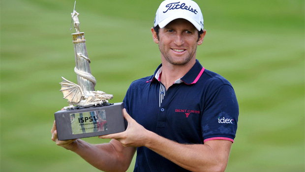 Gregory Bourdy winning ISPS Handa Wales Open