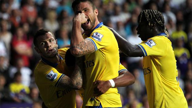 Premier League arsenal celebrates