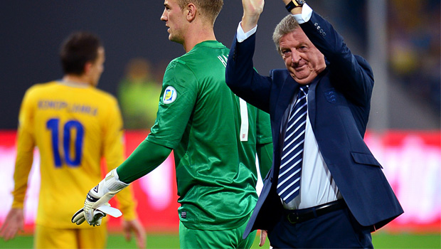 Roy Hodgson boss of England v Ukraine