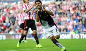 Liverpool Luis Suarez third score