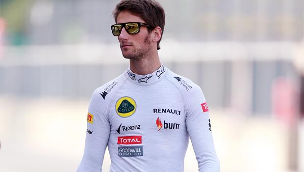 Lotus driver Romain Grosjean