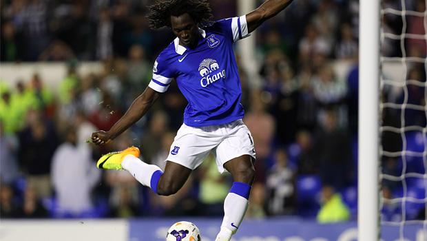 striker Romelu Lukaku scored twice as Everton v newcastle