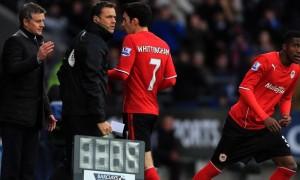 Ole-Gunnar-Solskjaer-and-Wilfried-Zaha-Cardiff-City