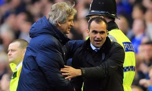 Manuel-Pellegrini-and-Roberto-Martinez-Everton-v-Man-City