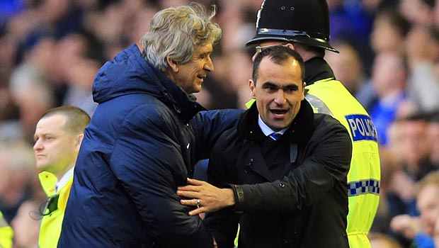 Manuel-Pellegrini-and-Roberto-Martinez-Everton-v-Man-City