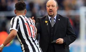 Ayoze Perez and Rafael Benitez Newcastle United