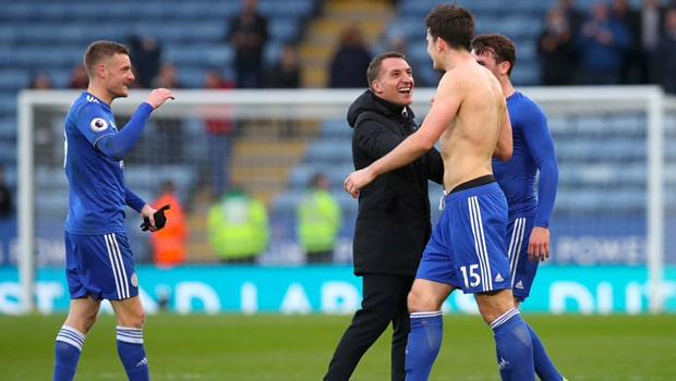 Harry-Maguire-and-Brendan-Rodgers-Leicester-City