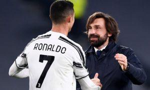 Andrea Pirlo and Cristiano Ronaldo